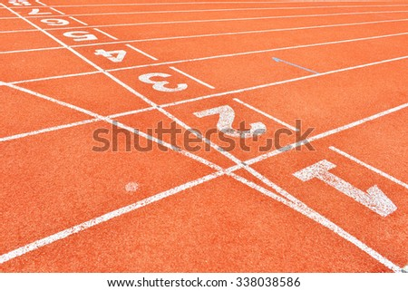 Running Track Lane Numbers