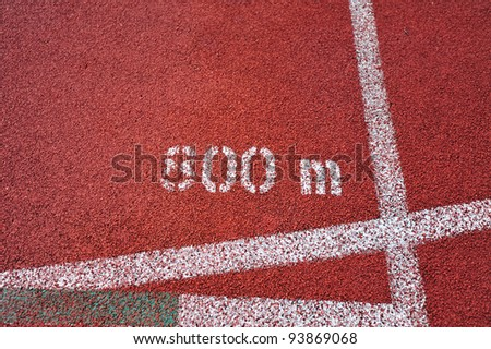 running track markings