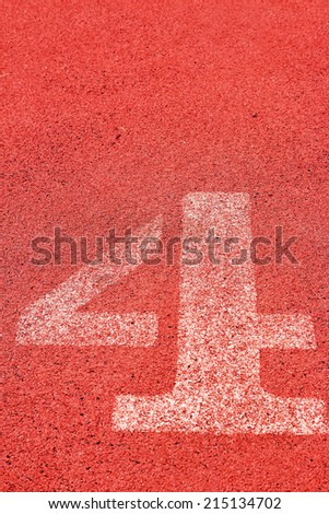 running track number - for the athletes - stock photo