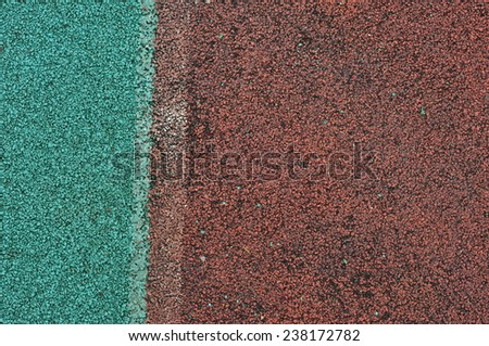 Running track rubber cover for background - stock photo