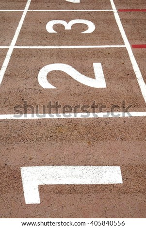 Running track , Run track , Red run track - stock photo