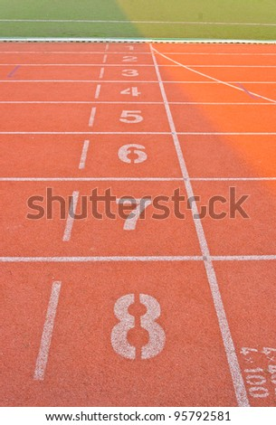 Running track starting lane