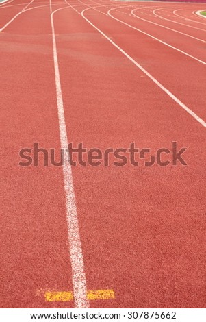 Running track with line on texture