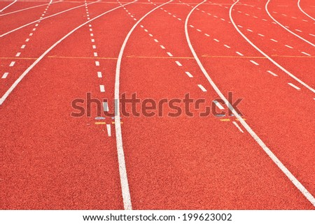 running tracks  - stock photo