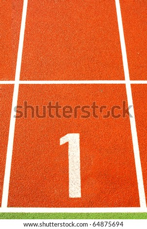 Running tracks - stock photo