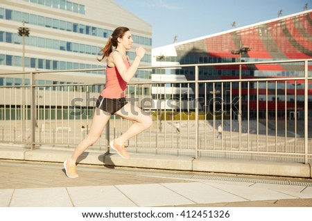 running woman - stock photo