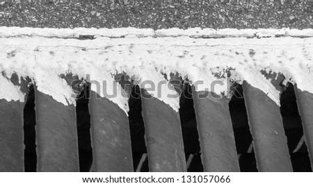 runoff grate - stock photo