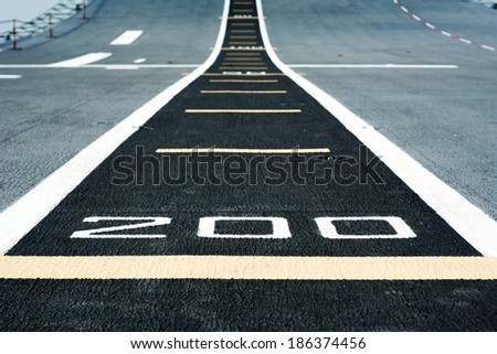 Runway airstrip on the warship