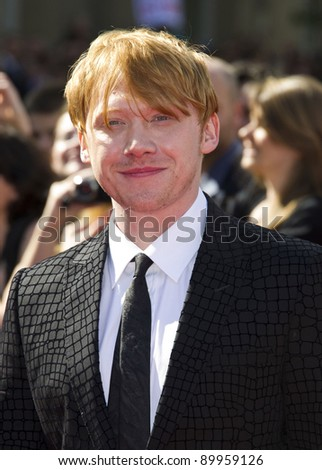 Rupert Grint arriving for the World Premiere of 'Harry Potter & the Deathly Hallows pt2', Trafalgar Square, London. 07/07/2011  Picture by: James McCauley / Featureflash - stock photo