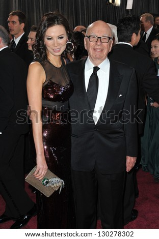 Rupert Murdoch & Wendi Deng at the 85th Academy Awards at the Dolby Theatre, Hollywood. February 24, 2013  Los Angeles, CA Picture: Paul Smith - stock photo