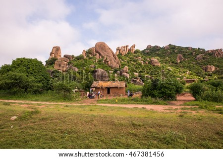Rural african homestead in Mwanza region Tanzania
