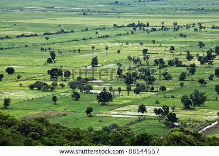Rural area of Cambodia - stock photo