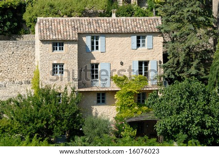 Rural house in Gordes, southern France - stock photo