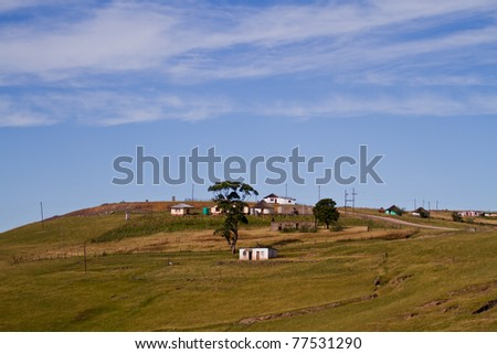 rural housing in eastern cape, south africa - stock photo