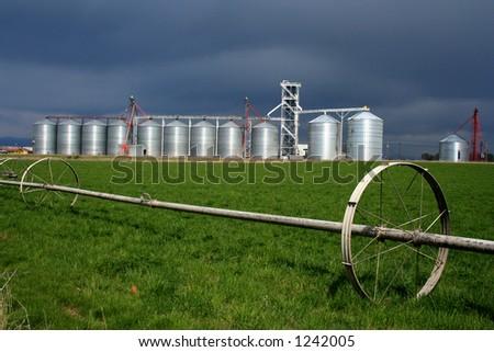 Rural Idaho Landscape,Silo's - stock photo
