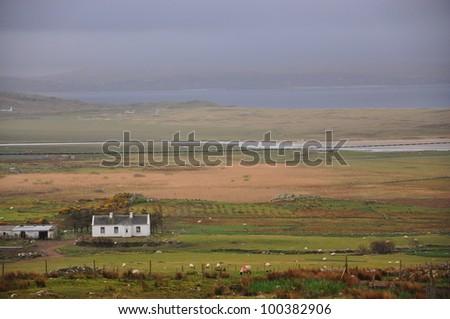 Rural Irish Countryside Scene - stock photo