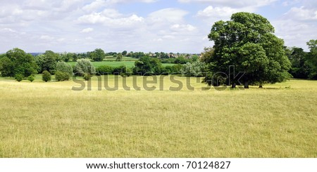 Rural Landscape in Summertime near Bath in Somerset England - stock photo