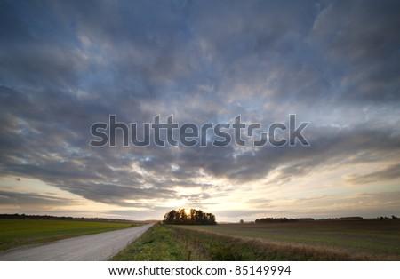 Rural road. - stock photo