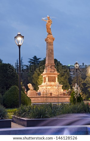 Ruse, Bulgaria - the Monument of Liberty was built around 1909 by the Italian sculptor Arnoldo Zocchi