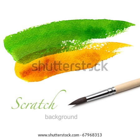 rush and paint scratch - stock photo