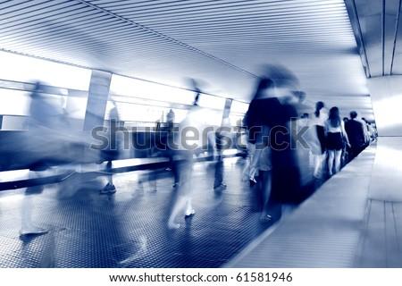 rush hour - stock photo
