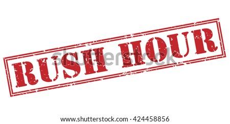 rush hour stamp - stock photo