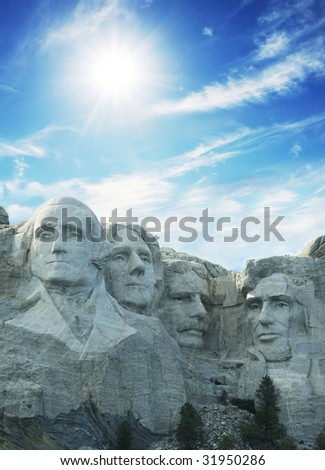 rushmore memorial - stock photo