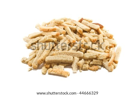 rusks isolated a white background