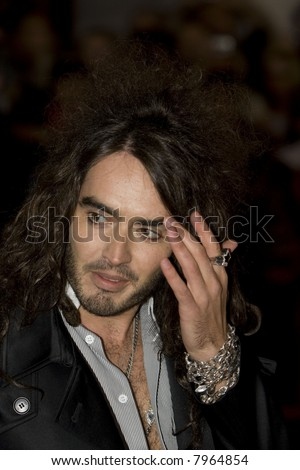 Russell Brand arrives at St Trinians World Premiere at the Empire Leicester Square on December 10, 2007 in London, England. Credit: Entertainment Press - stock photo