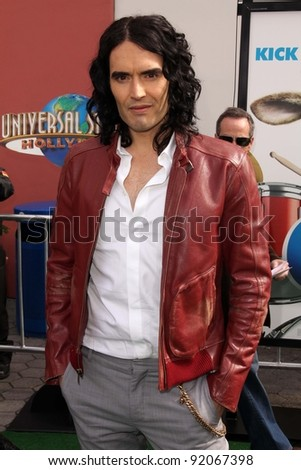 """Russell Brand  at the """"HOP"""" World Premiere, Universal Studios, Universal City, CA. 03-27-11 - stock photo"""