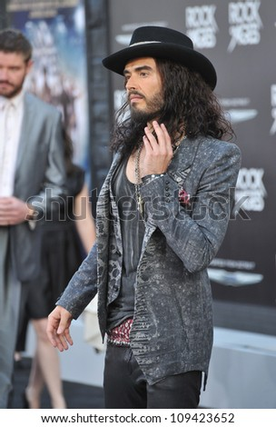 "Russell Brand at the world premiere of his new movie ""Rock of Ages"" at Grauman's Chinese Theatre, Hollywood. June 9, 2012  Los Angeles, CA Picture: Paul Smith / Featureflash"