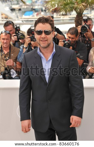 "Russell Crowe  at the 63rd Festival de Cannes where his movie ""Robin Hood"" opens the Festival. May 12, 2010  Cannes, France Picture: Paul Smith / Featureflash"