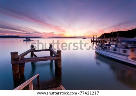 Russell in the  Bay Of Islands North Island New Zealand - stock photo