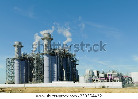 Russell Natural gas powered Electric Power Plant - stock photo