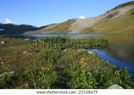 Russet Lake in Garibaldi Provincial Park, British Columbia, Canada. - stock photo