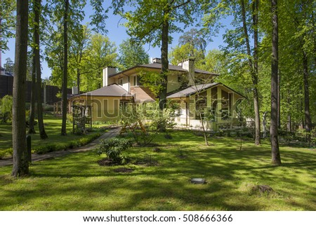 Russia,a country house in the woods