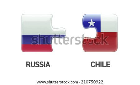 Russia Chile High Resolution Puzzle Concept