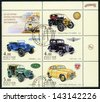 RUSSIA - CIRCA 2003: A stamp printed in Russia  dedicated the history of Russian motor-cars, circa 2003 - stock photo