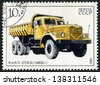 RUSSIA - CIRCA 1986: stamp printed by Russia, shows car, truck  circa 1986 - stock photo