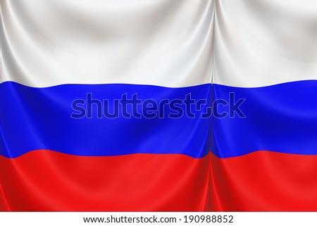 Russia Flag - stock photo