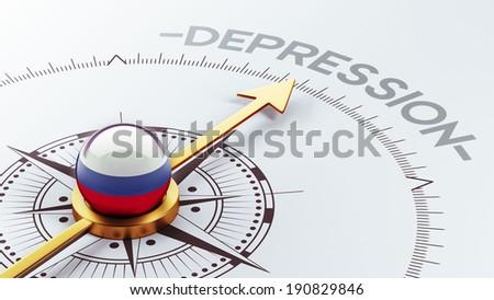 Russia High Resolution Depression Concept - stock photo