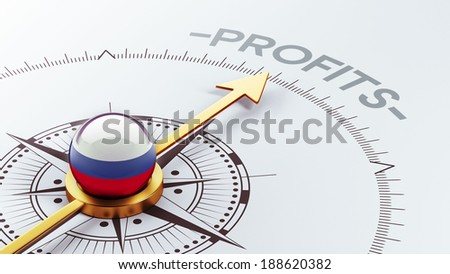 Russia High Resolution Profit Concept - stock photo