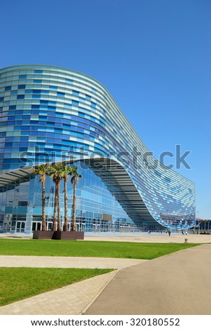 Russia. Iceberg Ice Arena in the Olympic Park (2015-05-10) - stock photo