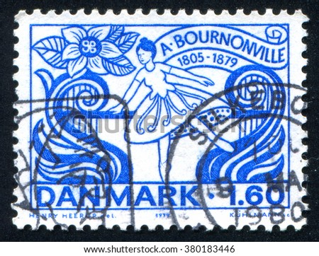 RUSSIA KALININGRAD, 3 JANUARY 2014: stamp printed by Denmark, shows Ballerina, circa 1979