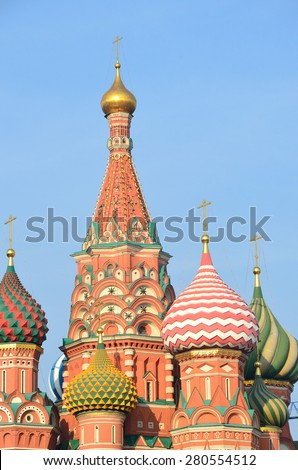 Russia, Moscow, Basil's cathedral on Red square - stock photo