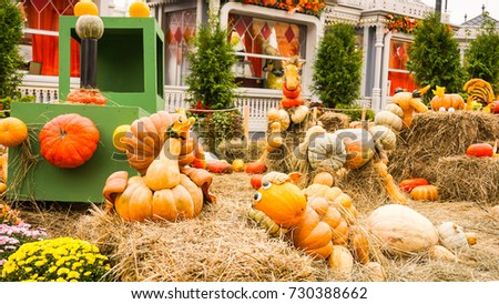 Russia Moscow Red-square halloween  pumpkins event