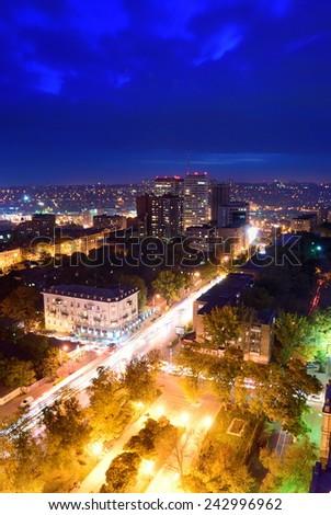 Russia. Rostov-on-Don. Crossroads in the city center - stock photo