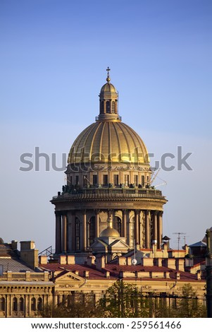Russia. St.-Petersburg.  Isaakievsky cathedral. - stock photo