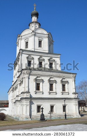 Russia, The Church of Archangel Michael in the Spaso-Andronikov monastery in Moscow - stock photo
