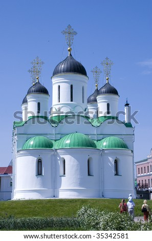 Russia. The Orthodox Christian monastery situated in the city Murom - stock photo